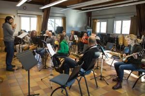 Répétition de l'orchestre avec Patricio Martinez Vera. Février 2015